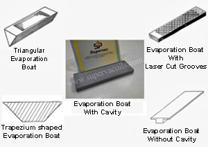 Types of evaporation boats