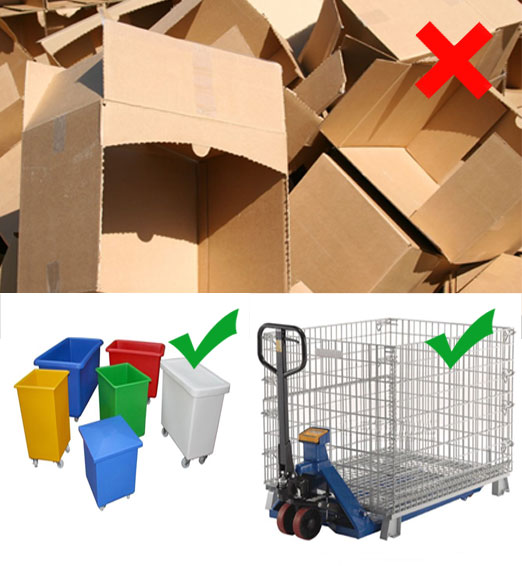 cardboard-and-metal-cage