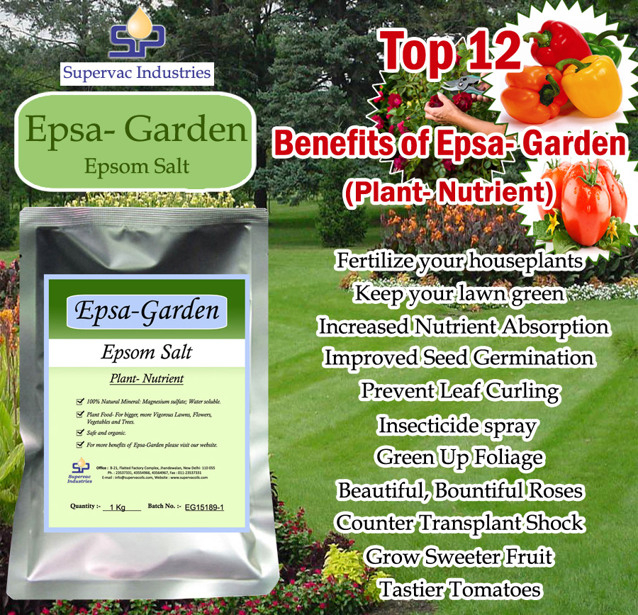 Epsom Salt For Gardening Supervac Industries India
